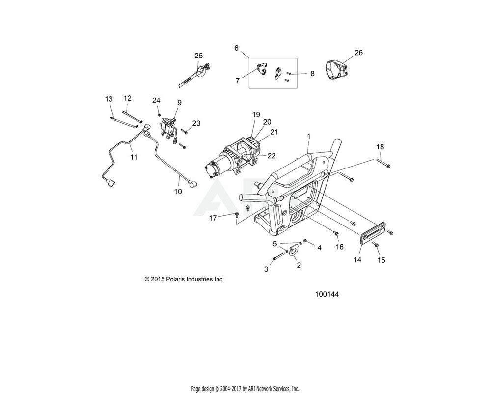 Polaris OEM 1021183-647 WELD-BUMPER, FRONT, ORG BURST