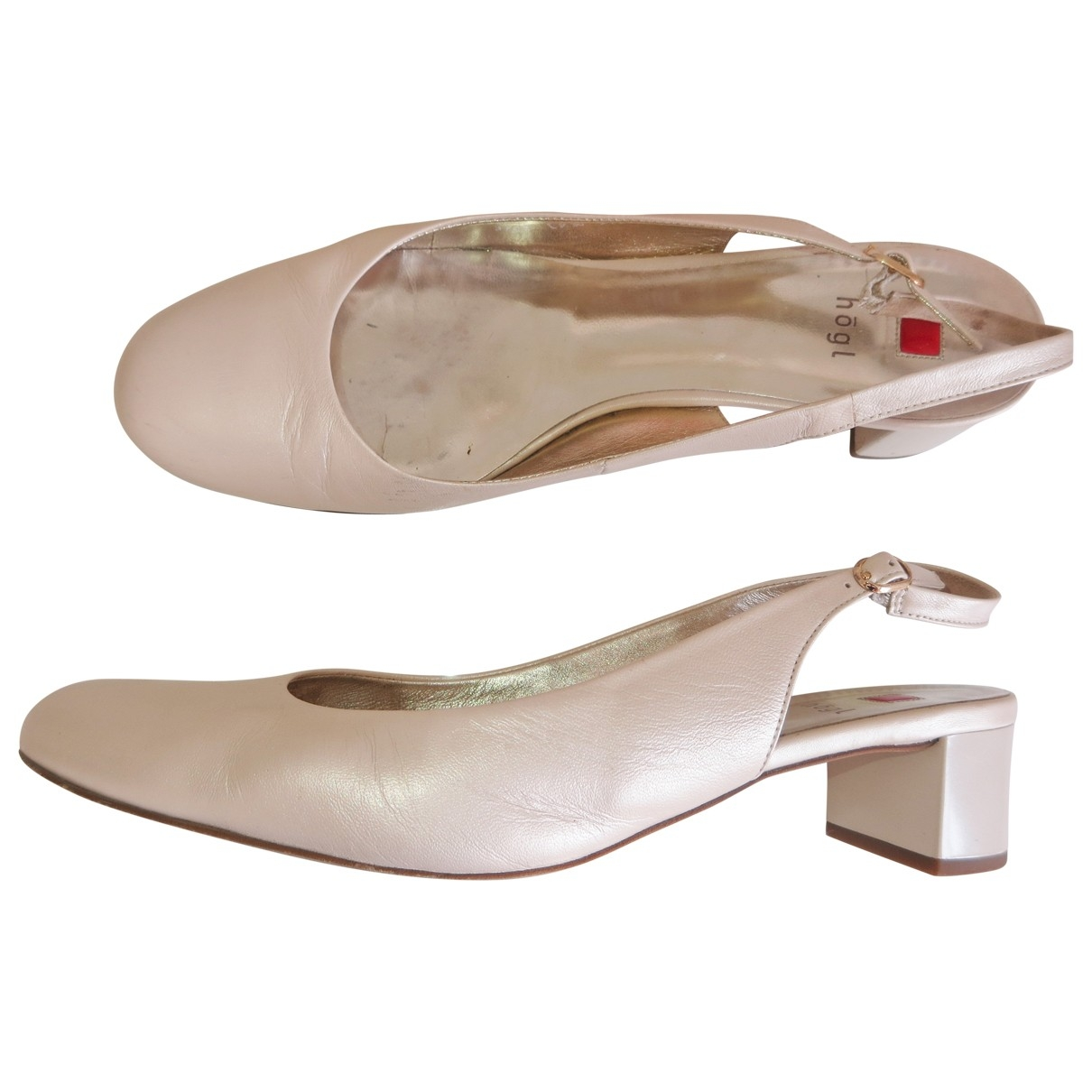 Non Signé / Unsigned \N Ecru Leather Heels for Women 9.5 UK