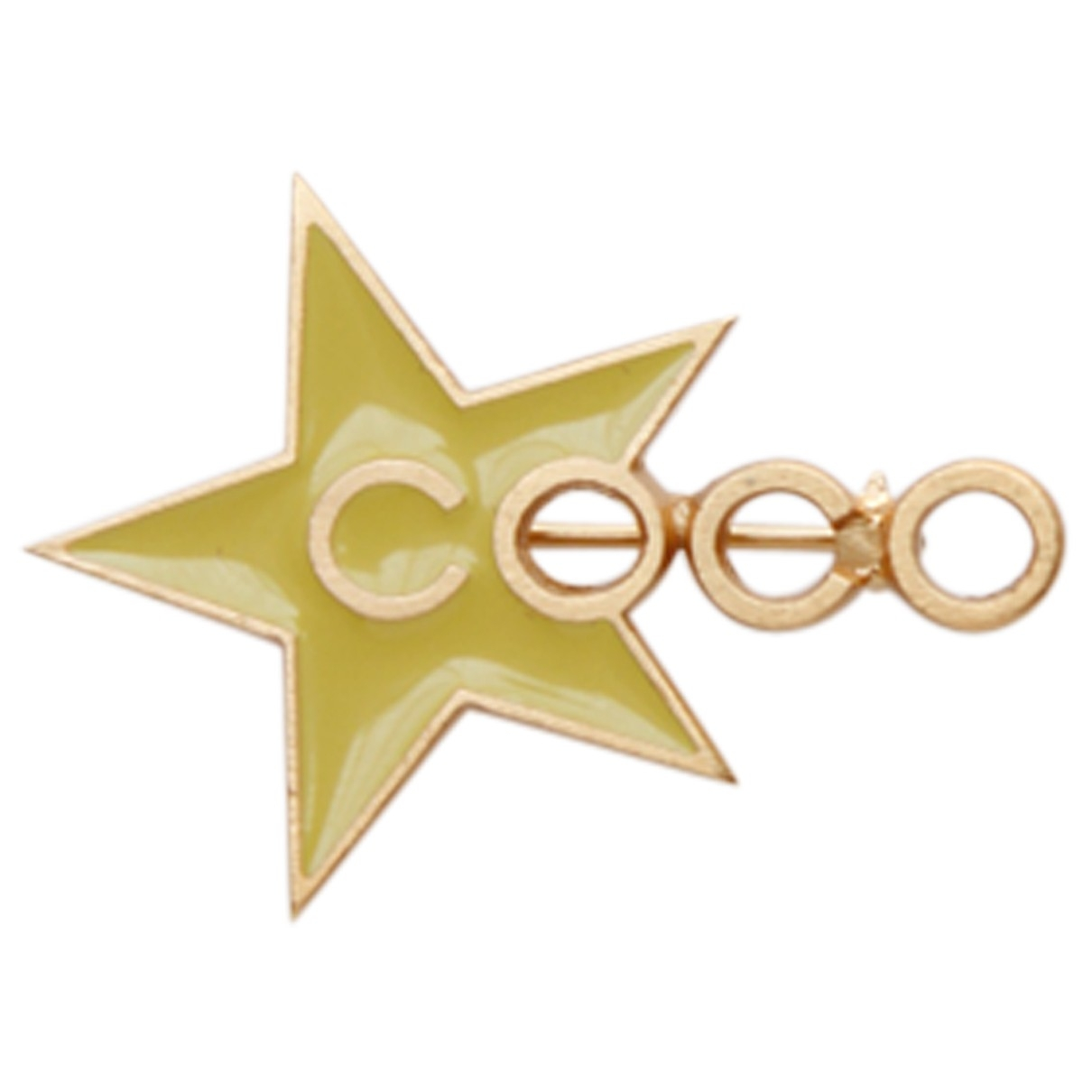Chanel CC Yellow Metal Pins & brooches for Women \N