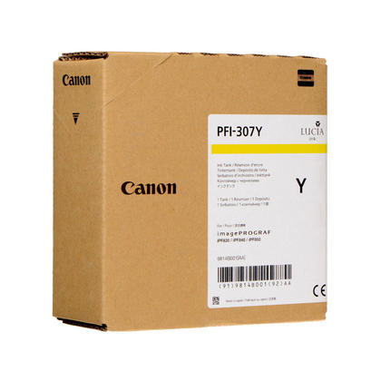 Canon PFI-307Y 9814B001 cartouche d'encre originale jaune