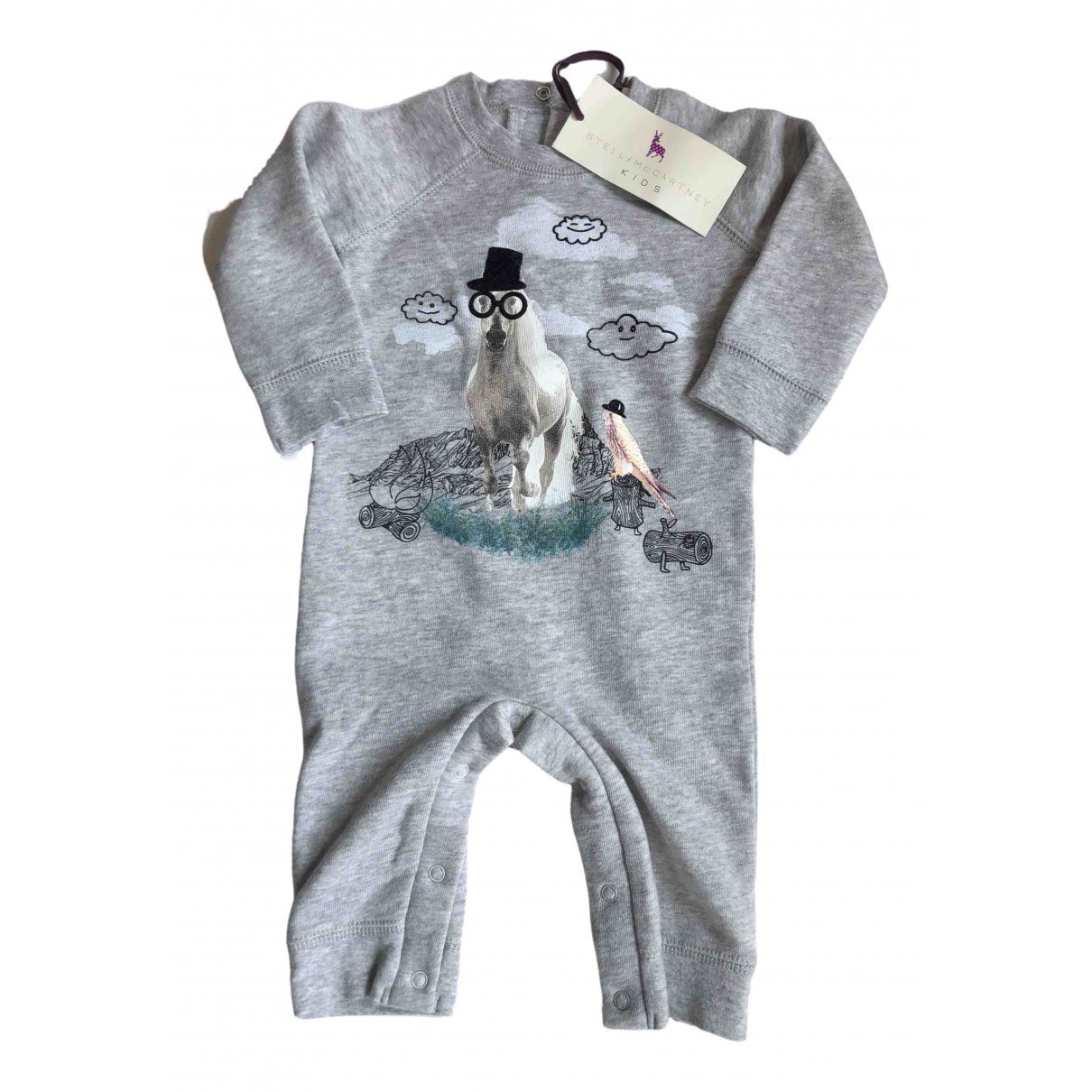 Stella Mccartney \N Grey Cotton Outfits for Kids 3 months - up to 60cm FR
