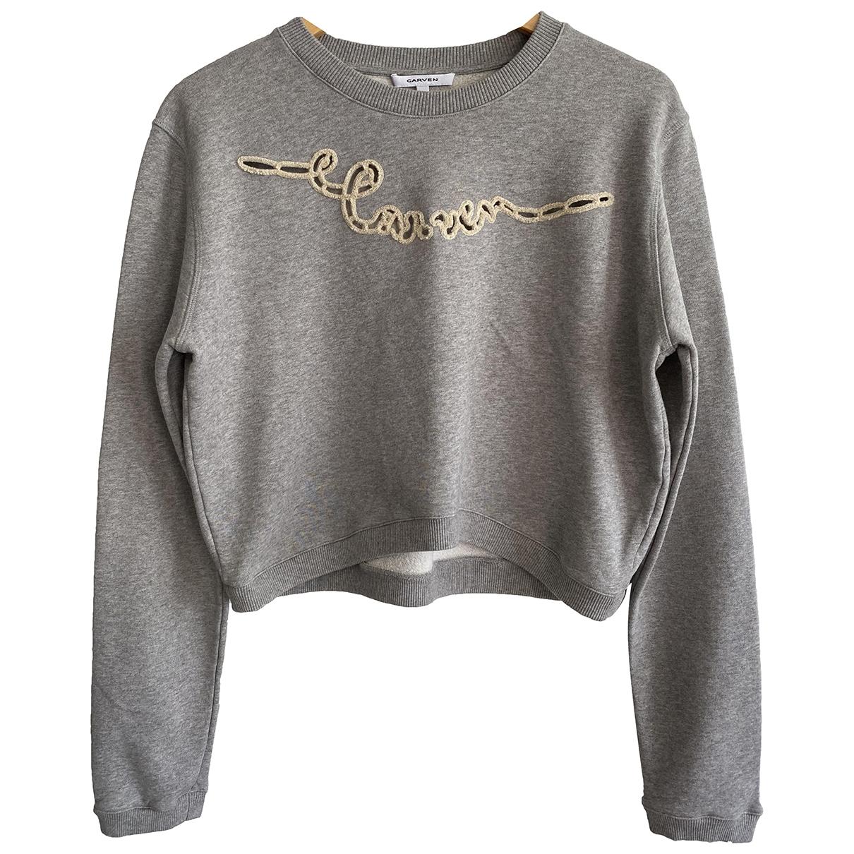 Carven \N Grey Cotton Knitwear for Women 38 FR