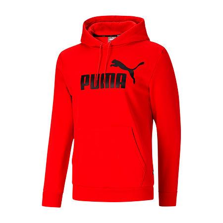 Puma Puma Essentials Mens Long Sleeve Hoodie, Medium , Red