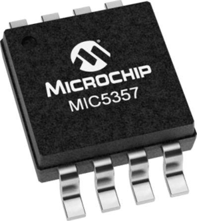Microchip MIC5357-SGYMME, LDO Regulator, 500mA Adjustable, 1.8 → 3.8 V, ±3% 8-Pin, MSOP (100)