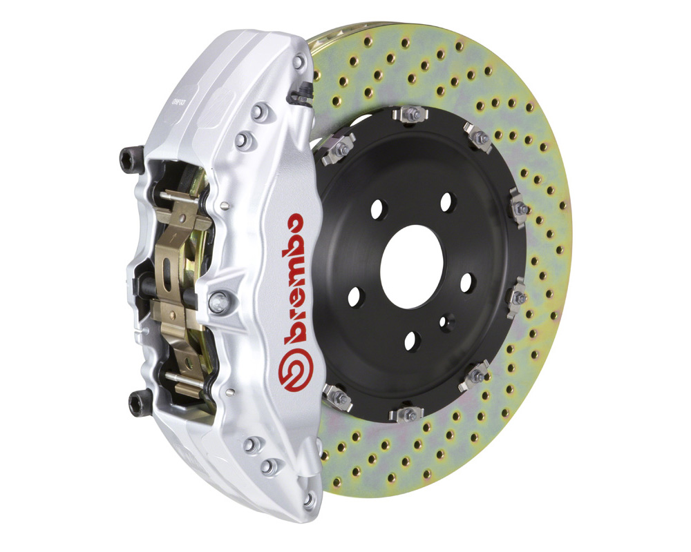 Brembo GT 380x34 2-Piece 6 Piston Silver Drilled Front Big Brake Kit