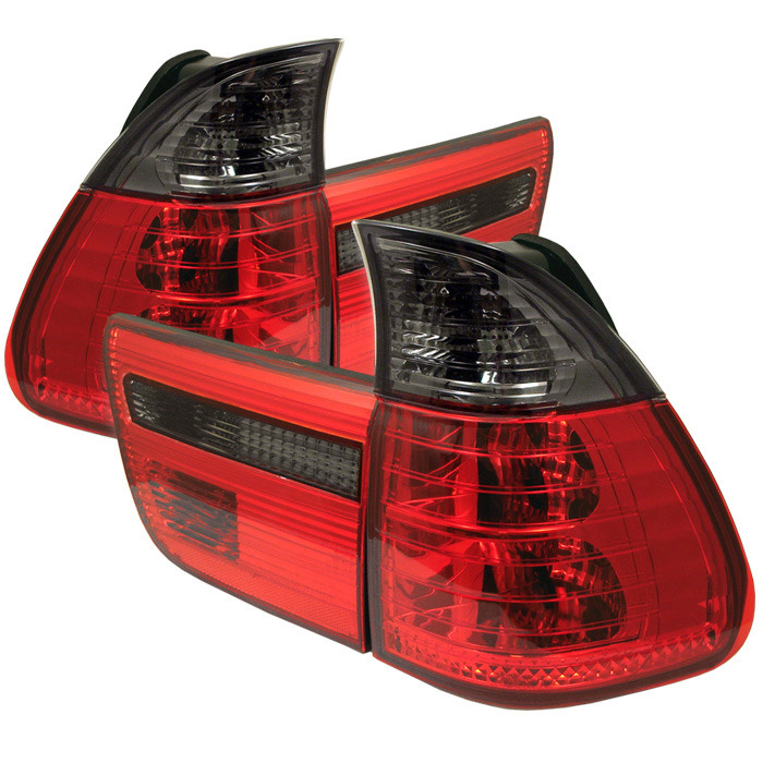 Spyder Auto ALT-YD-BE5300-RS 4 Piece Red Smoke Euro Style Taillights BMW E53 X5 4.8is 04-06