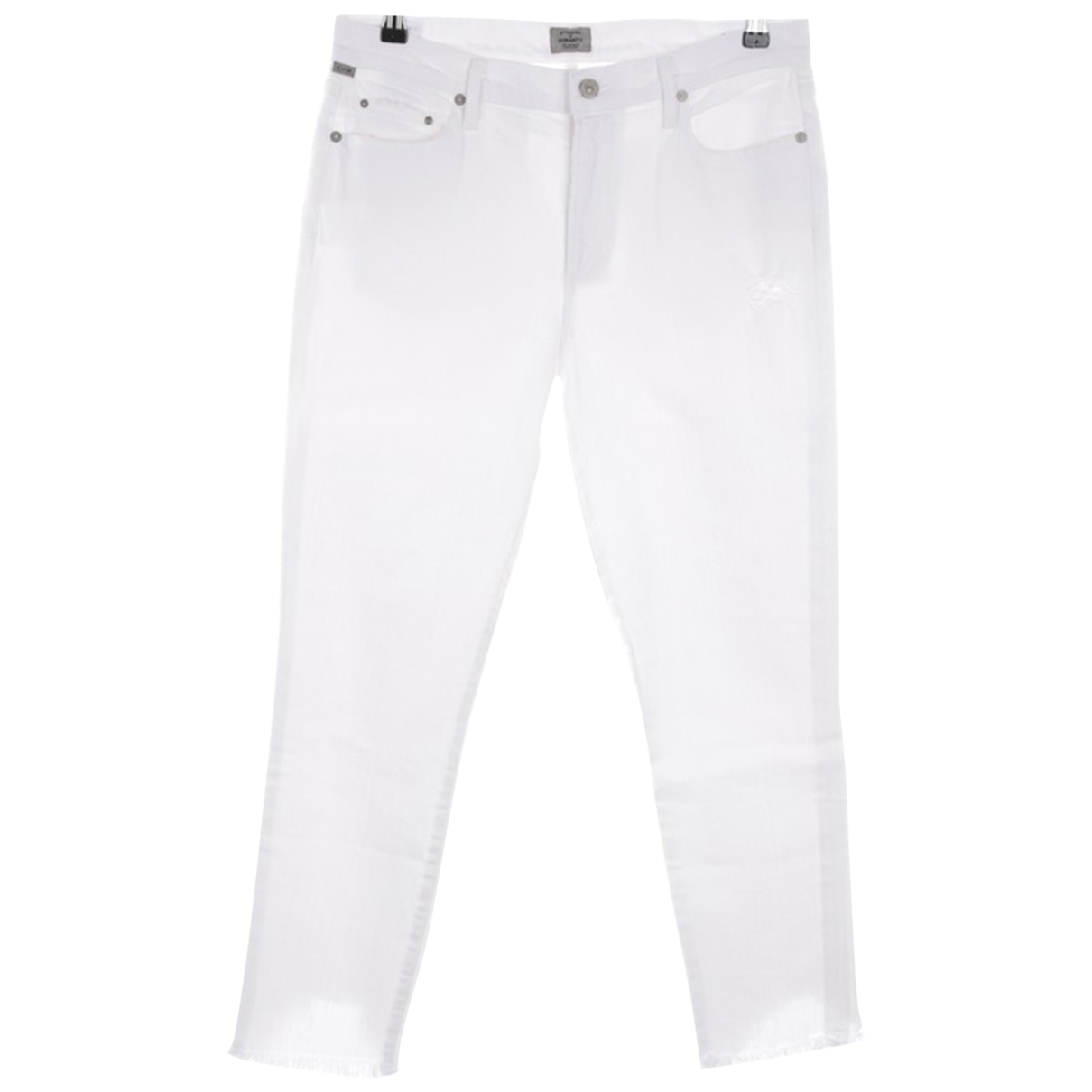 Citizens Of Humanity \N White Cotton - elasthane Jeans for Women 32 US
