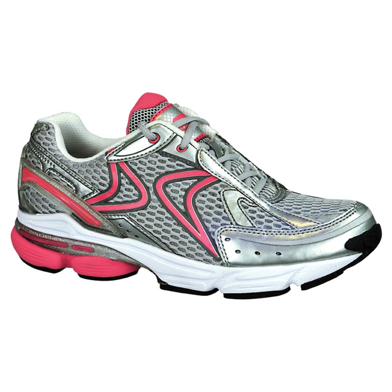 Aetrex Rx Runner Grey/Cranberry Synthetic 6 Xw