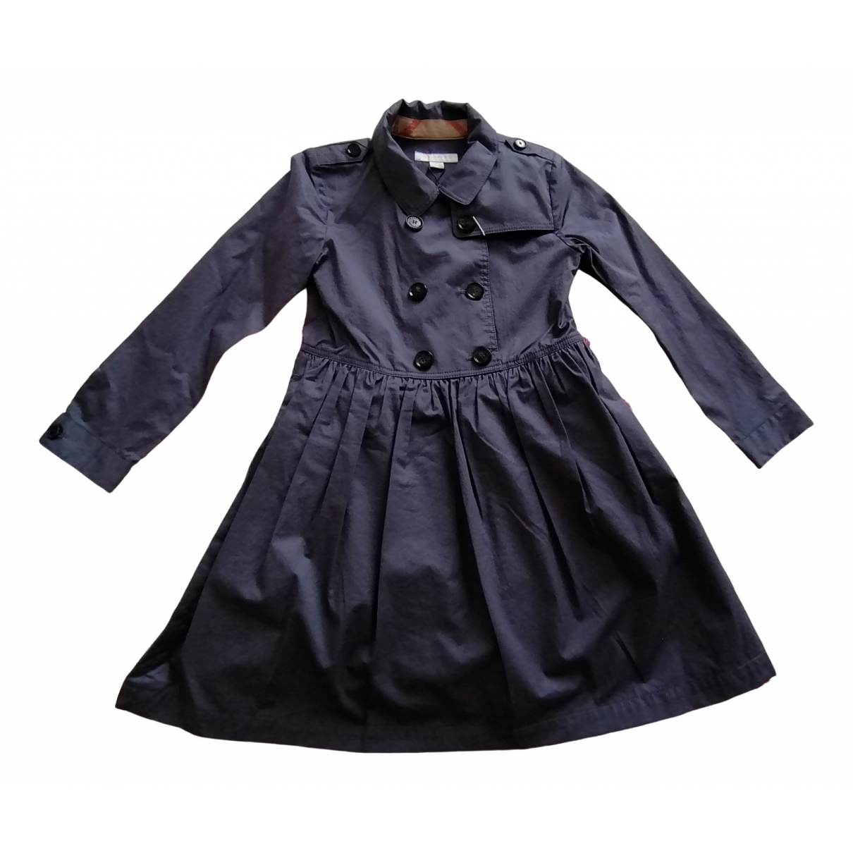 Burberry \N Blue Cotton dress for Kids 8 years - up to 128cm FR