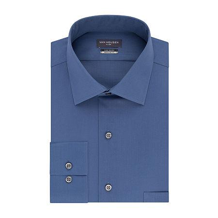 Van Heusen Flex Collar Dress Long Sleeve Shirt - Big & Tall, 19 34-35, Blue