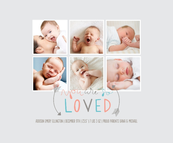 Baby + Kids Framed Canvas Print, Oak, 16x20, Home Décor -So Loved