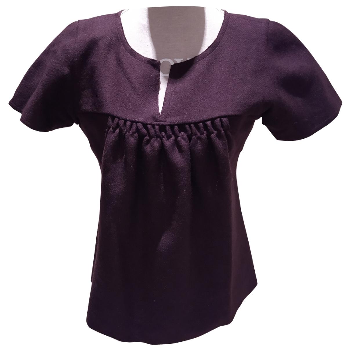 Miu Miu \N Burgundy Wool Knitwear for Women 46 IT