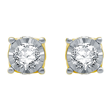 Ever Star 3/4 CT. T.W. Lab Grown White Diamond 10K White Gold Stud Earrings, One Size , No Color Family
