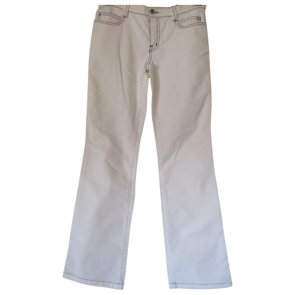 Moschino Cheap And Chic \N White Cotton Trousers for Women 40 IT