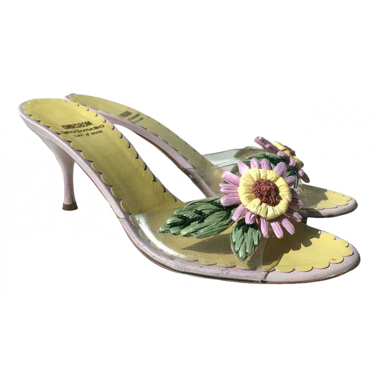 Moschino Cheap And Chic \N Purple Leather Mules & Clogs for Women 39 EU
