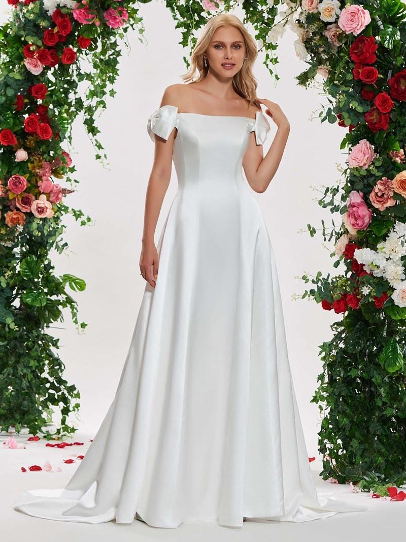 Ericdress Bowknot Off the Shoulder Wedding Dress