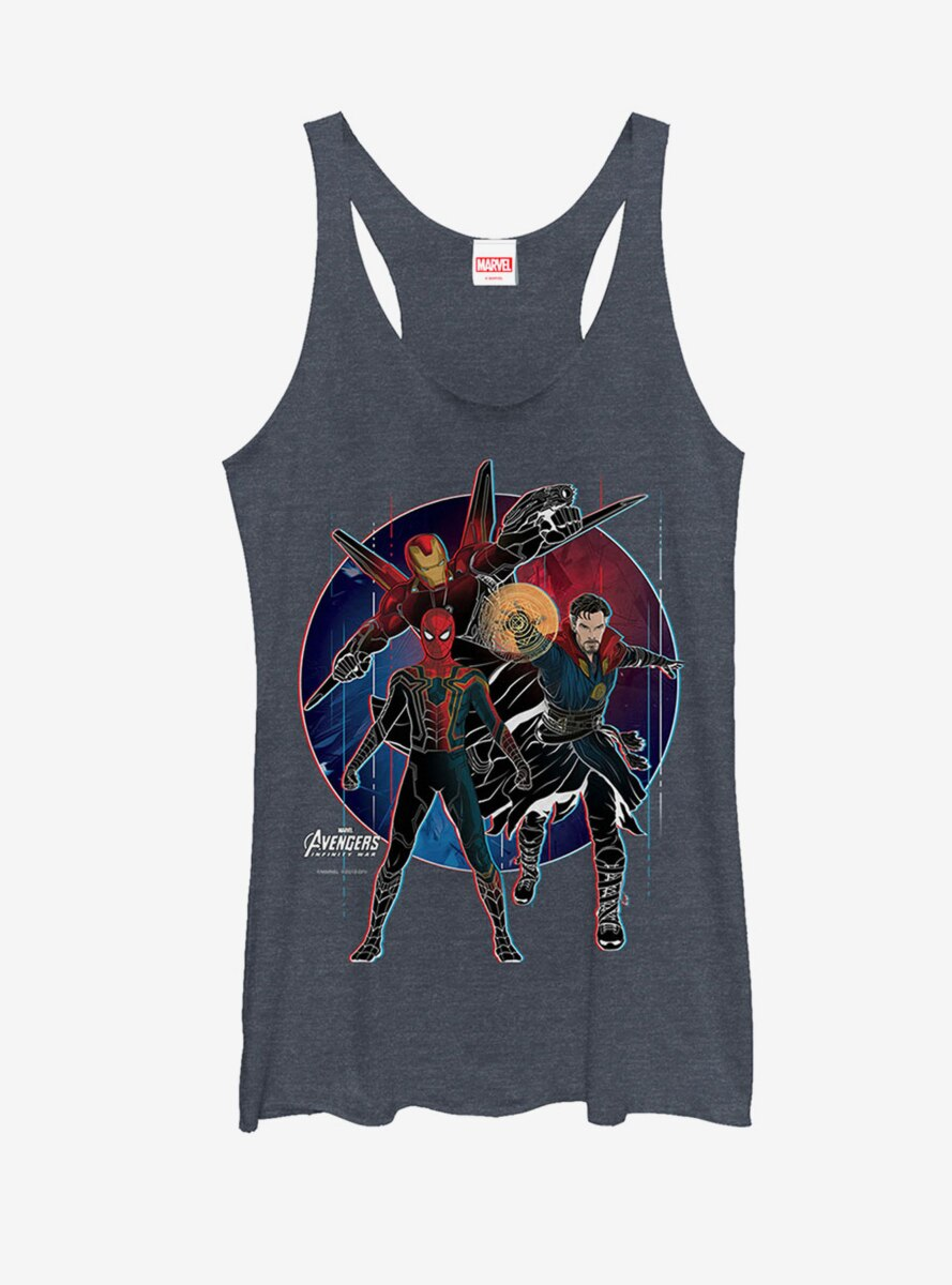 Marvel Avengers: Infinity War Spider-Man Circle Womens Tank
