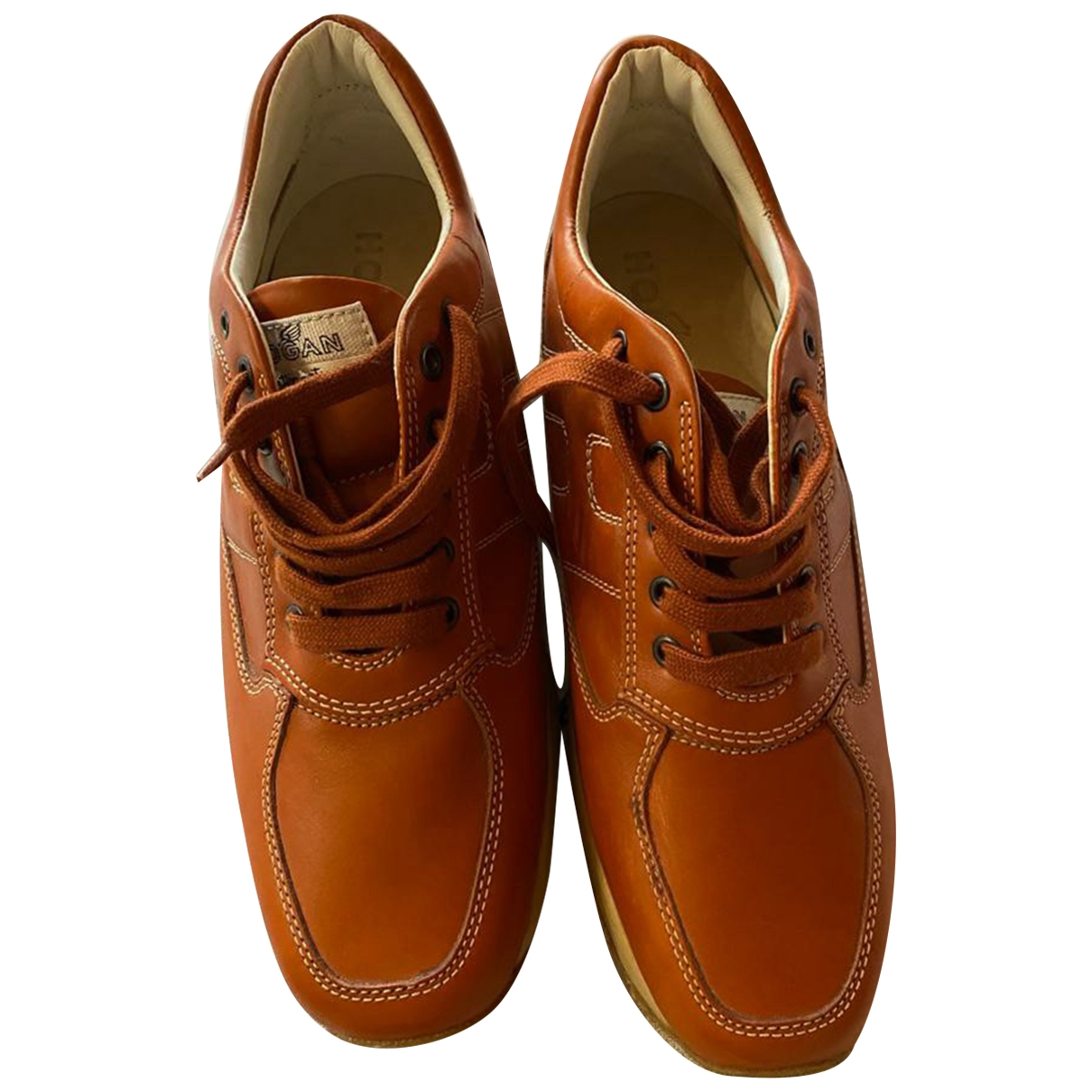 Hogan \N Camel Leather Trainers for Men 7.5 US