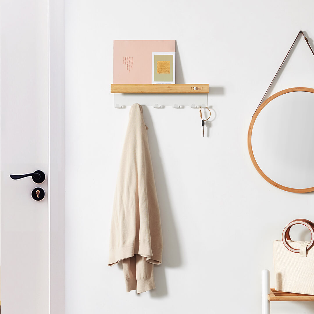 Xiaomi CHENGSHE Multi-function Wall Hanging Hook Key Holder Rack Home Office Storage Hanger Wall Mount Hooks