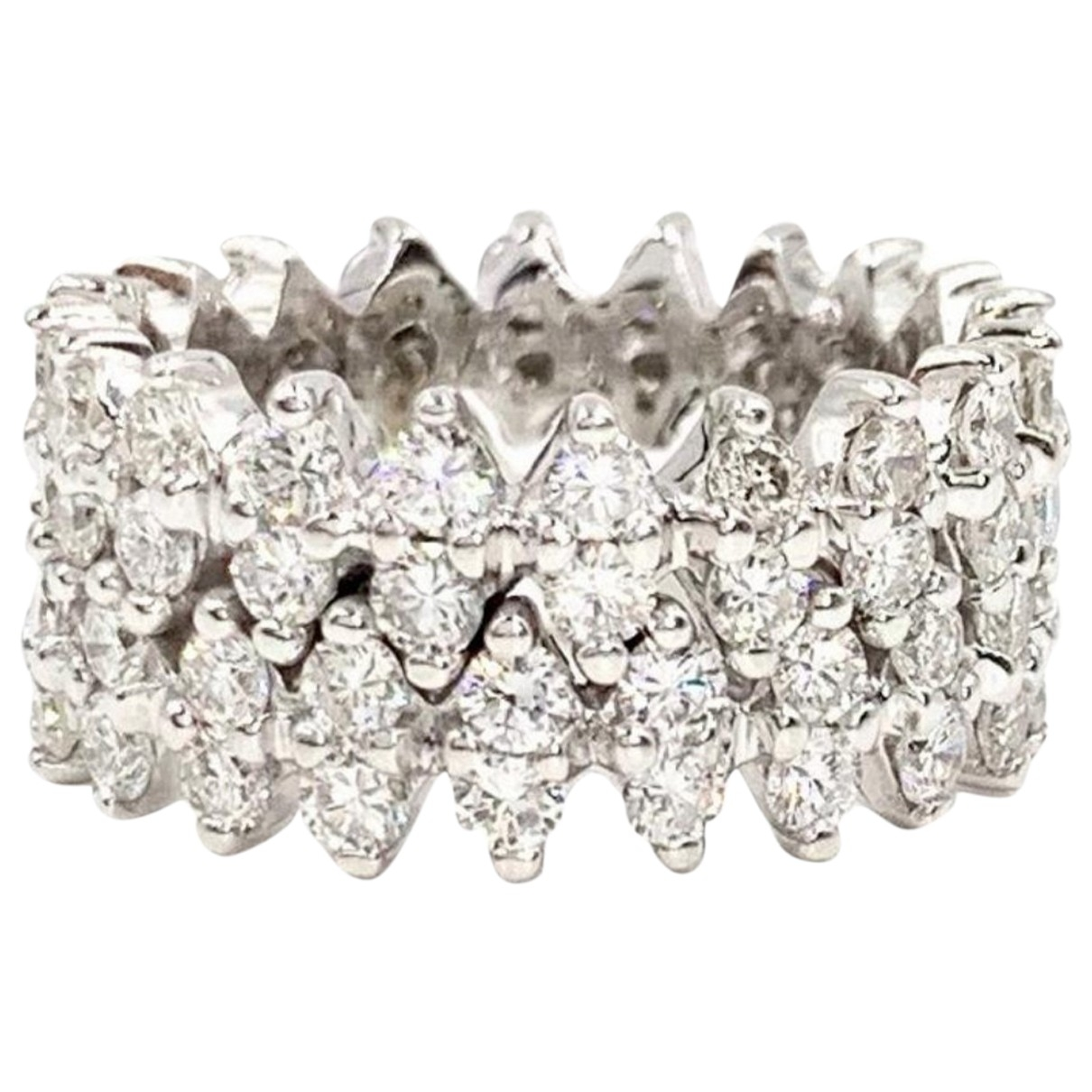 Non Signé / Unsigned Bagues Cocktails White White gold ring for Women 53 MM