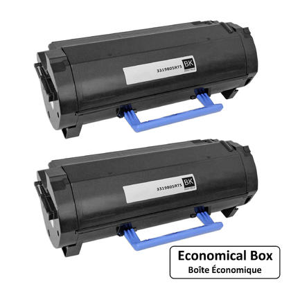 Dell 331-9805 C3NTP M11XH Compatible Black Toner Cartridge High Yield - Economical Box - 2/Pack
