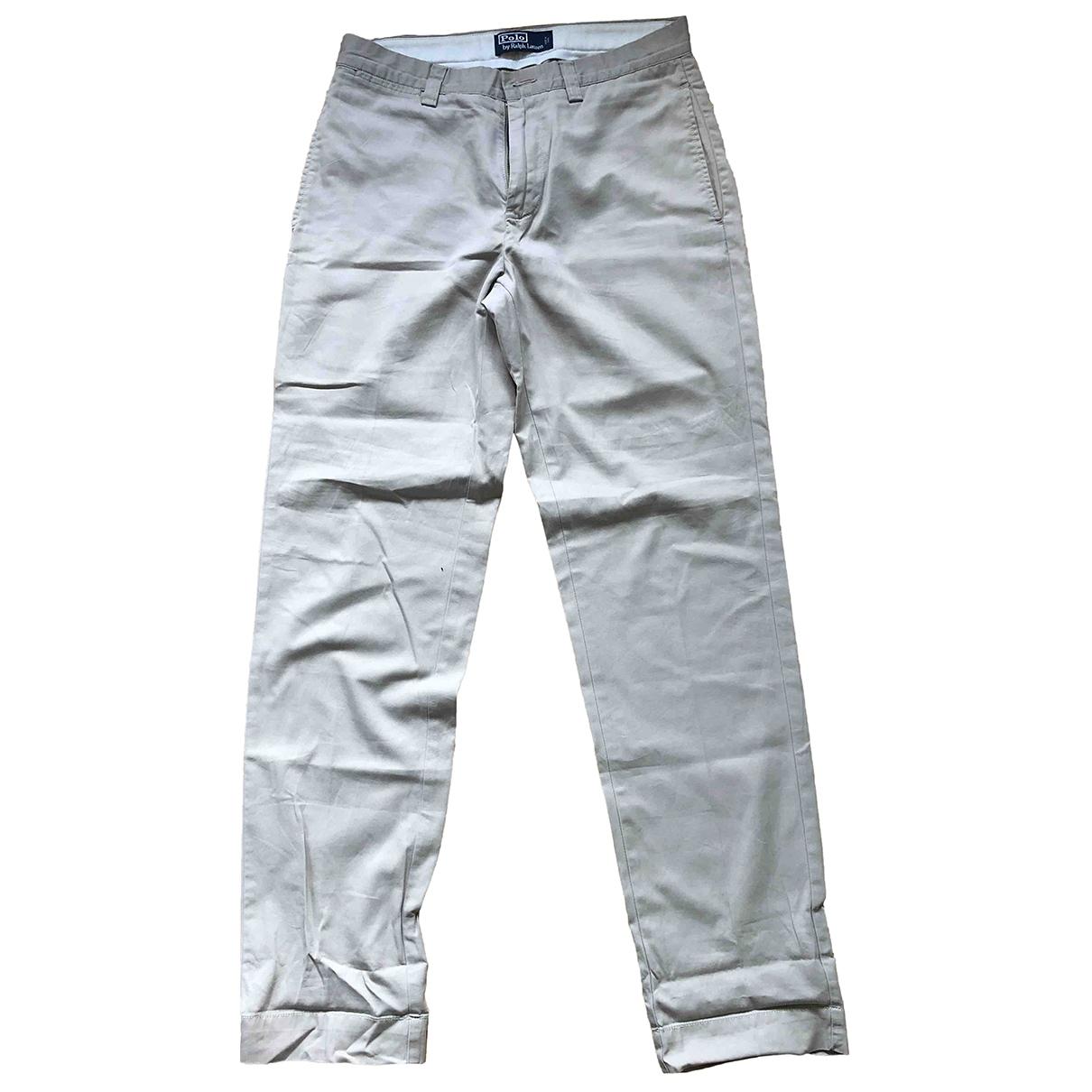 Polo Ralph Lauren \N Khaki Cotton Trousers for Men 30 UK - US