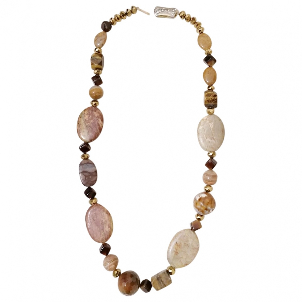 Non Signé / Unsigned Lapis lazuli Camel Pearls necklace for Women \N