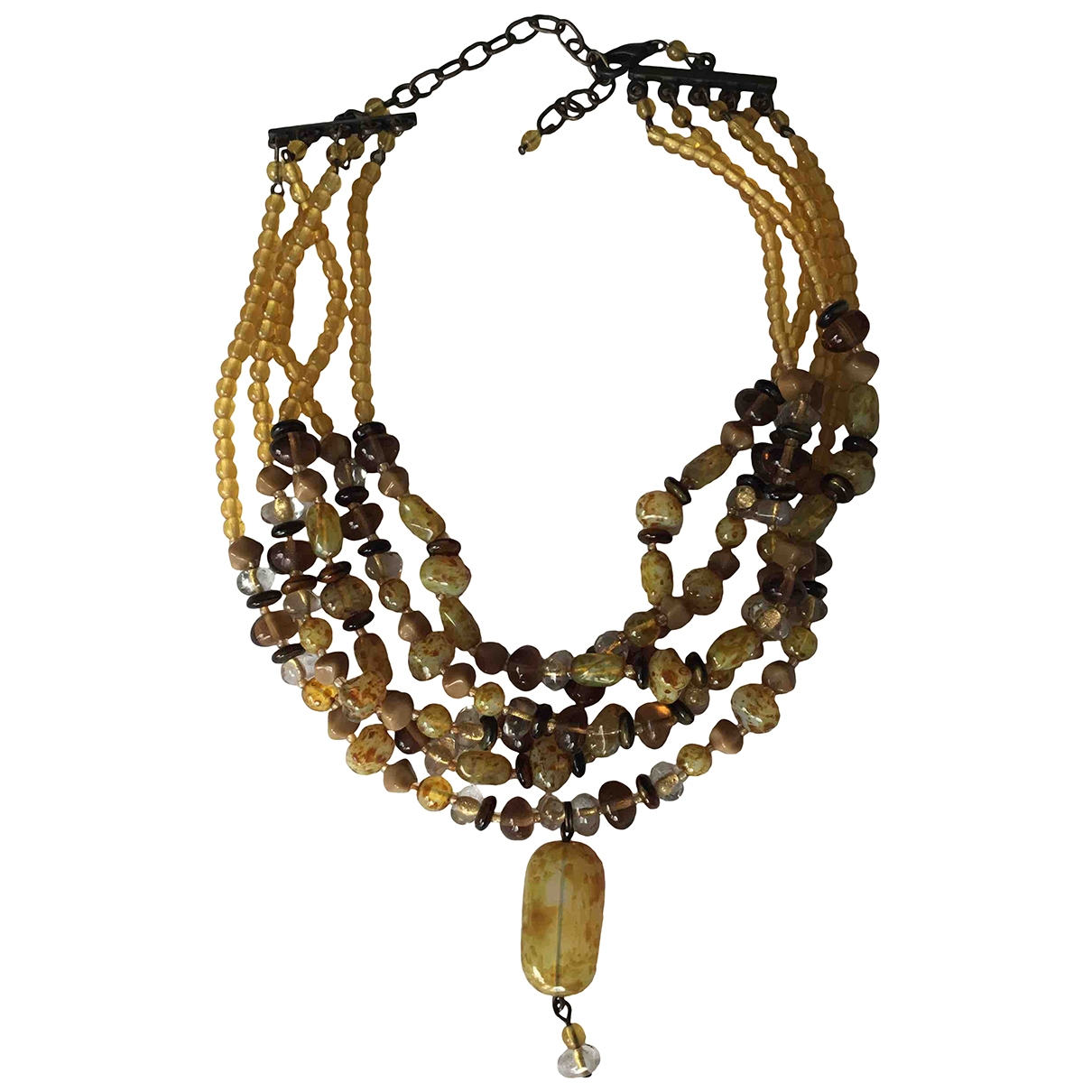Non Signé / Unsigned \N Camel Pearls necklace for Women \N