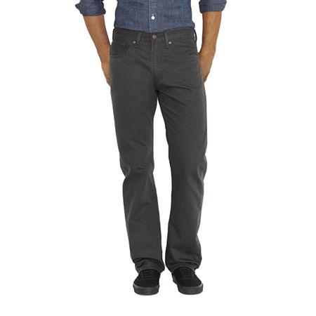 Levi's Men's 505 Regular Twill Pants, 36 36, Gray