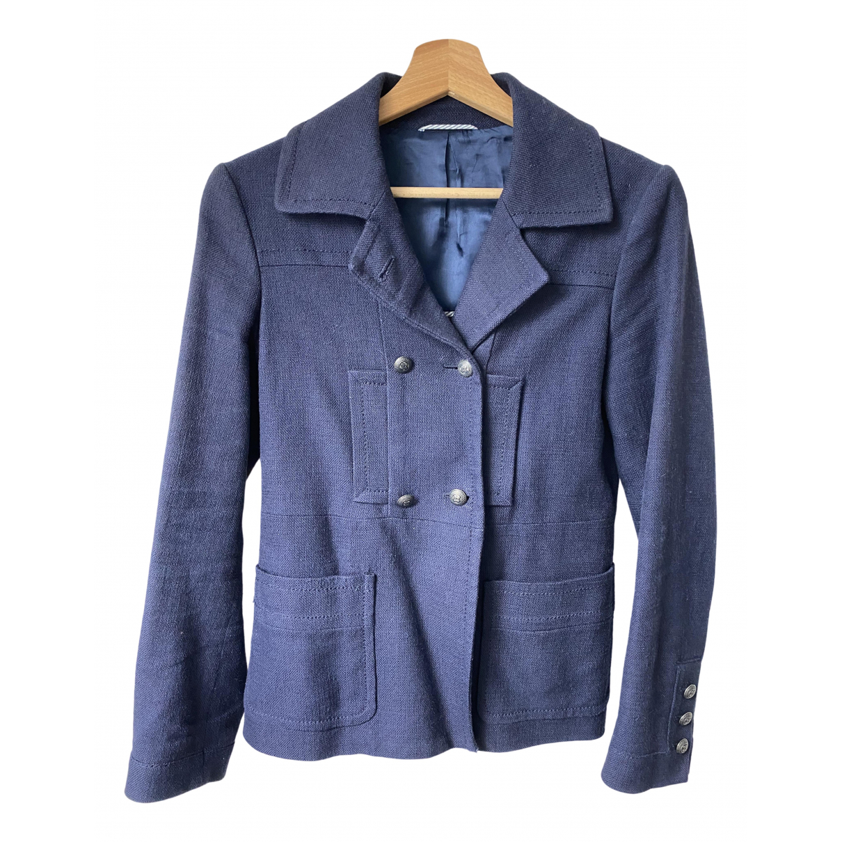 Massimo Dutti \N Navy Cotton jacket for Women 36 FR