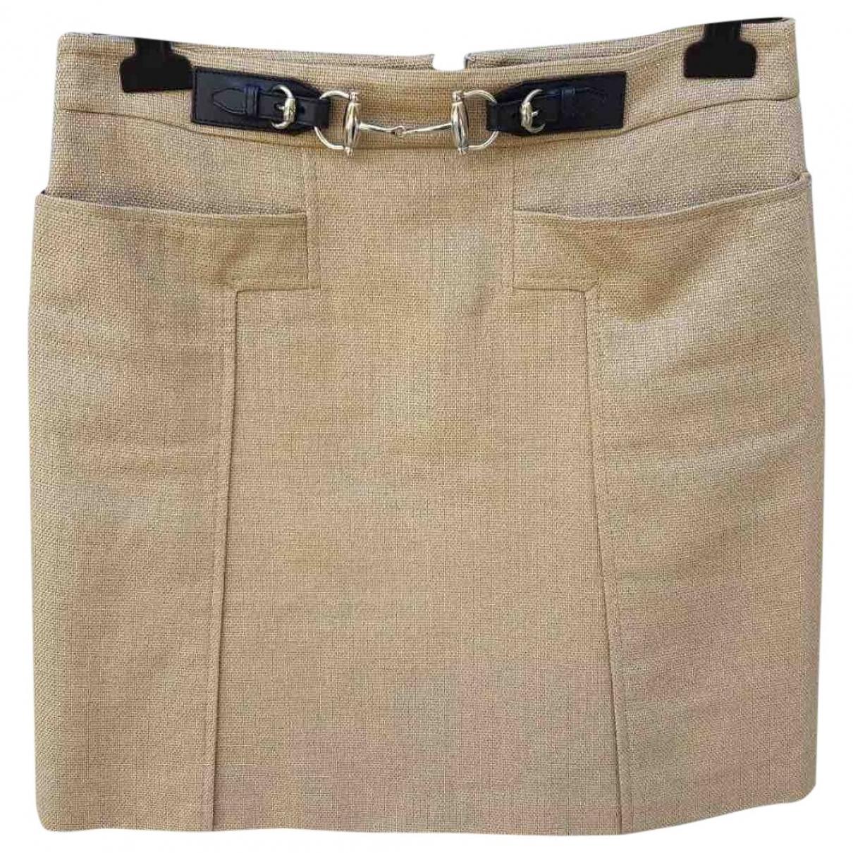 Gucci \N Beige Cotton skirt for Women 42 IT