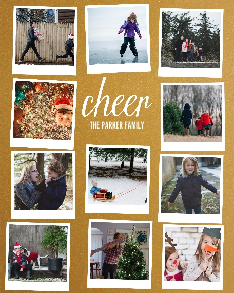Holiday 16x20 Poster, Home Décor -Cheer Snapshots