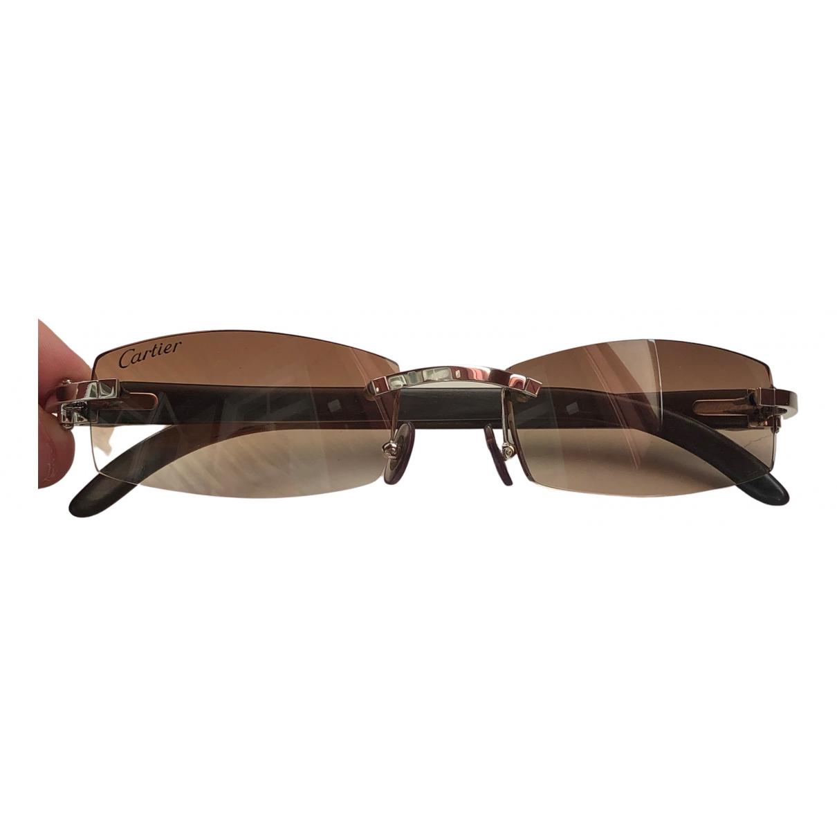 Cartier \N White Metal Sunglasses for Men \N