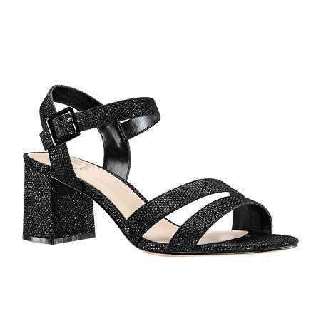 I. Miller Womens Niobe Heeled Sandals, 9 1/2 Medium, Black