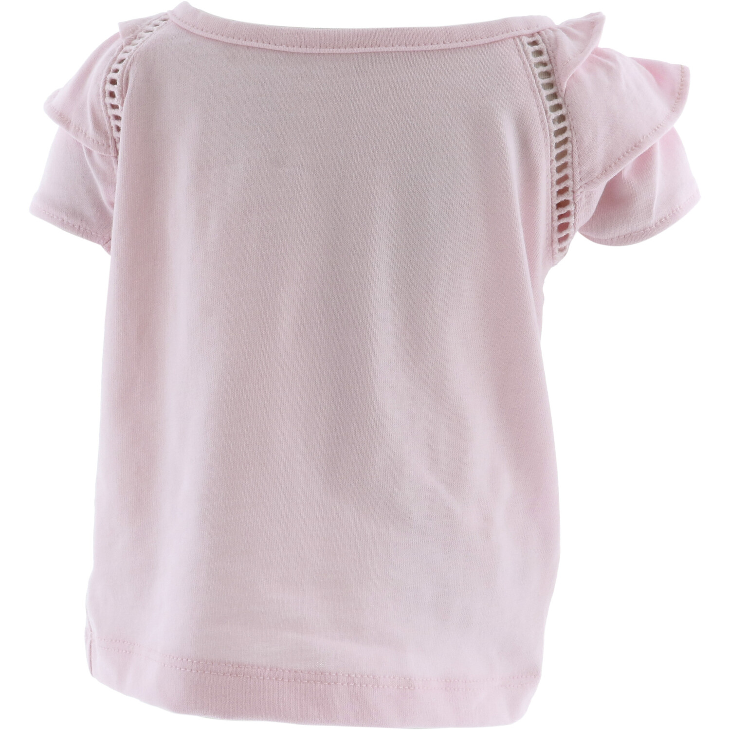 Janie And Jack Girl's Bubblegum Pink Ruffle Sleeve Top Blouse - 3-6 Months