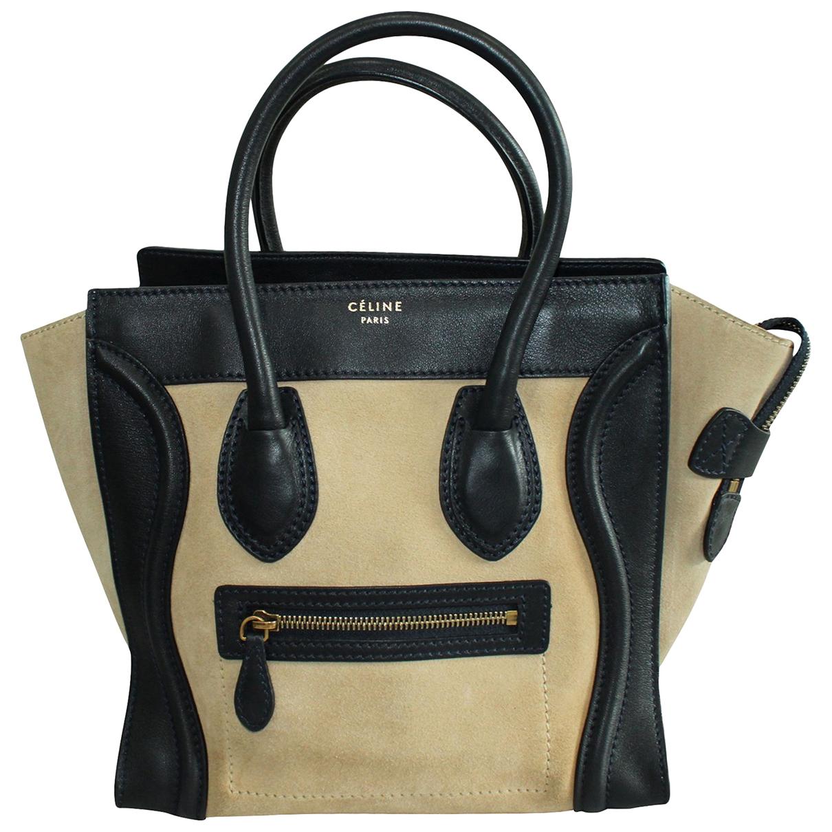 Celine \N Beige Suede handbag for Women \N