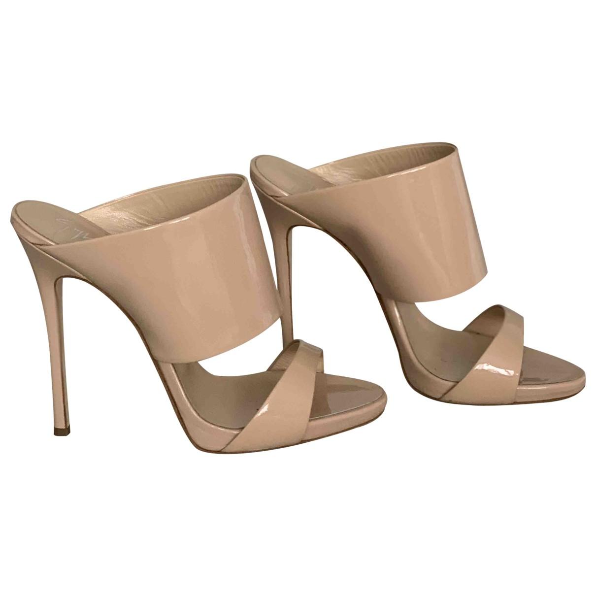 Giuseppe Zanotti \N Beige Patent leather Heels for Women 37 EU