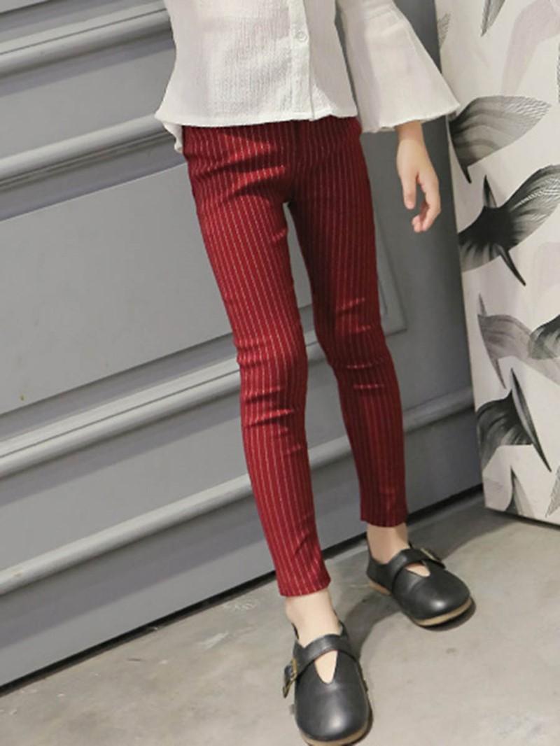 Ericdress Stripe Pocket Nylon Girls Leggings