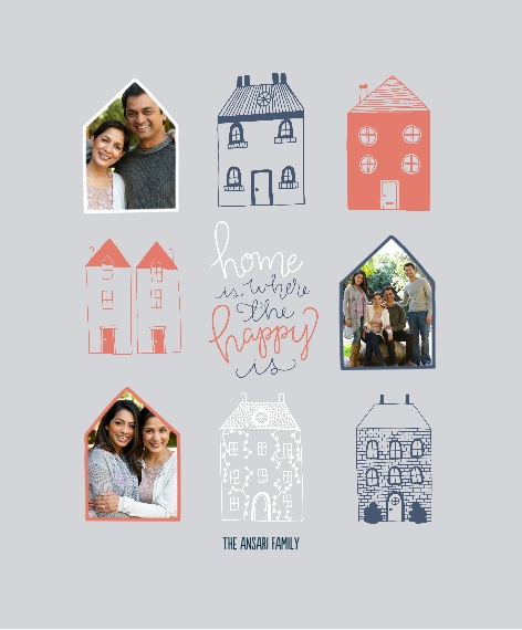 Family + Friends Canvas Print, 11x14, Home Décor -Happy Homes