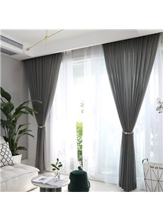 Elegant Simple and Fashionable Pure Colour Custom Sheer Curtain