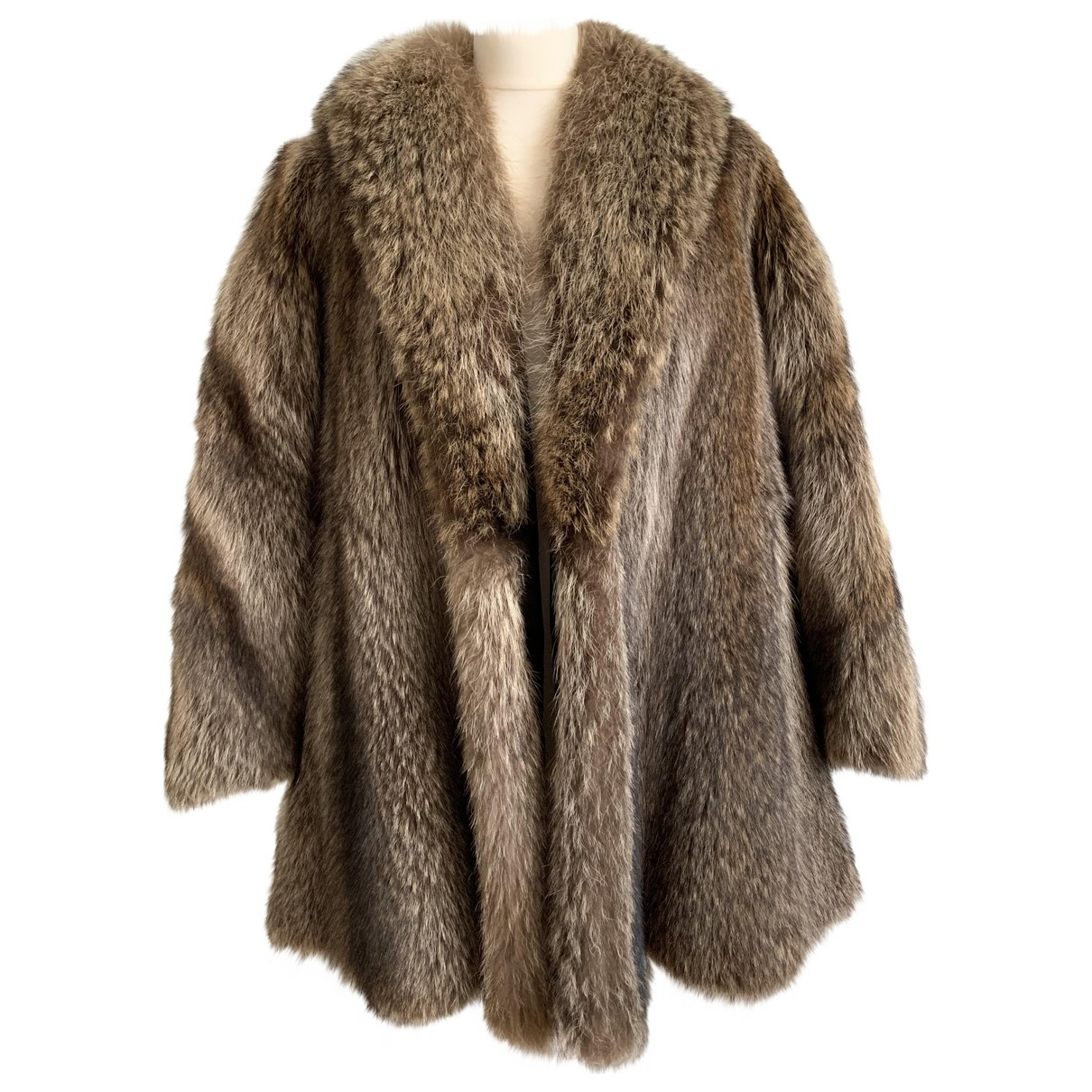 Non Signé / Unsigned \N Silver Fur coat for Women 44 IT