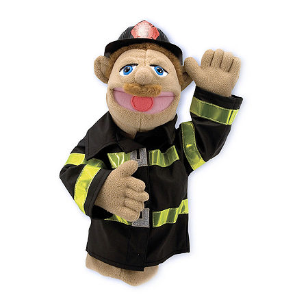 Melissa & Doug Firefighter Puppet, One Size , Multiple Colors