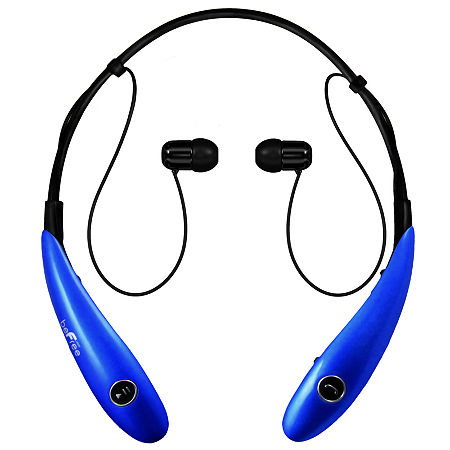 beFree Sound Bluetooth Wireless Active Headphones with Microphone, One Size , Blue