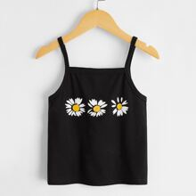 Toddler Girls Floral Print Cami Top