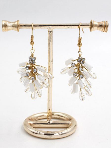 Milanoo Gold Earrings Bridal Jewelry Wedding Statement Earrings