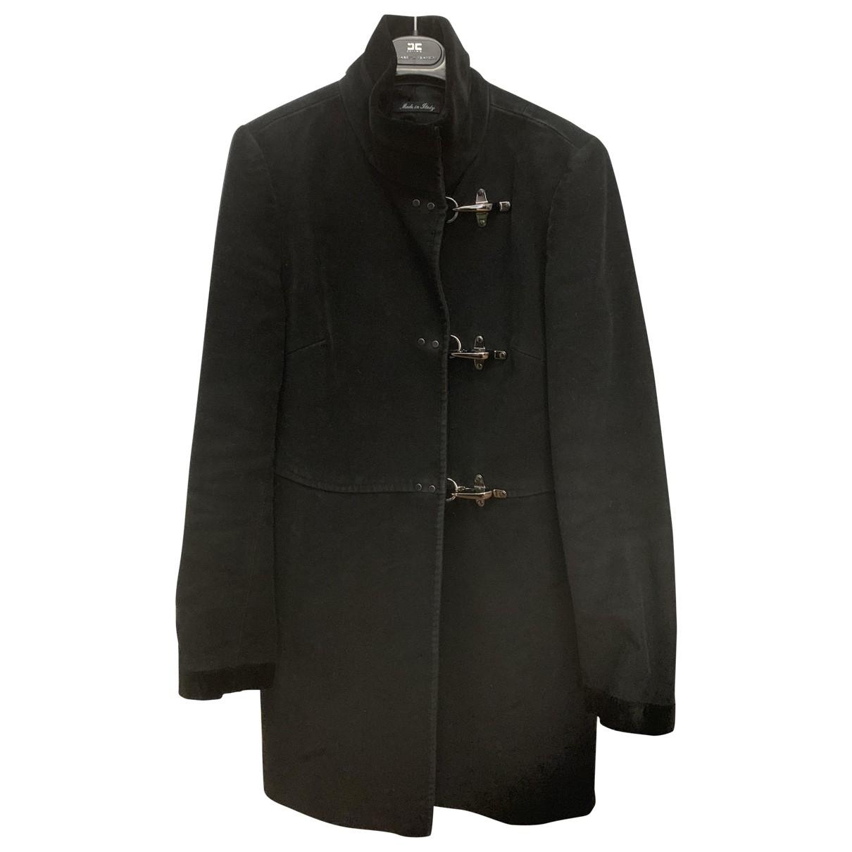Fay \N Black Wool coat for Women 38 IT