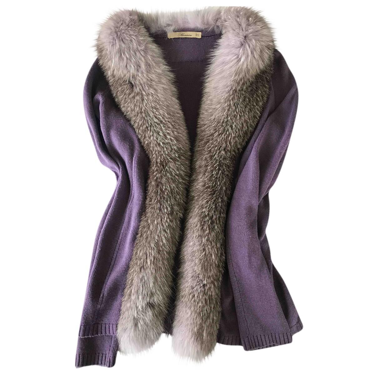 Blumarine \N Purple Cashmere jacket for Women 44 IT
