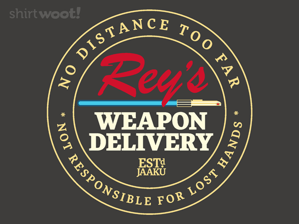 Rey's Weapon Delivery T Shirt