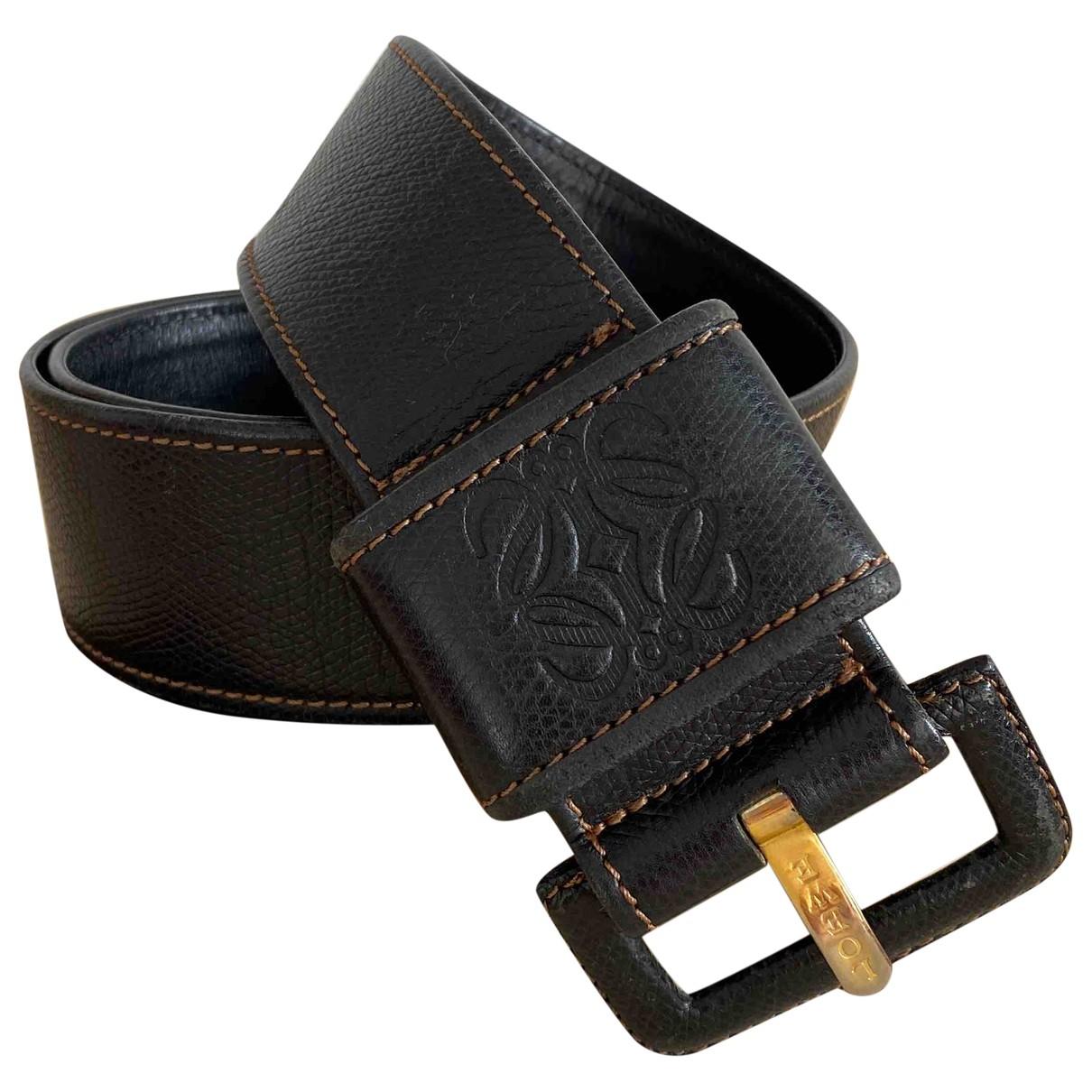 Loewe \N Navy Leather belt for Women S International