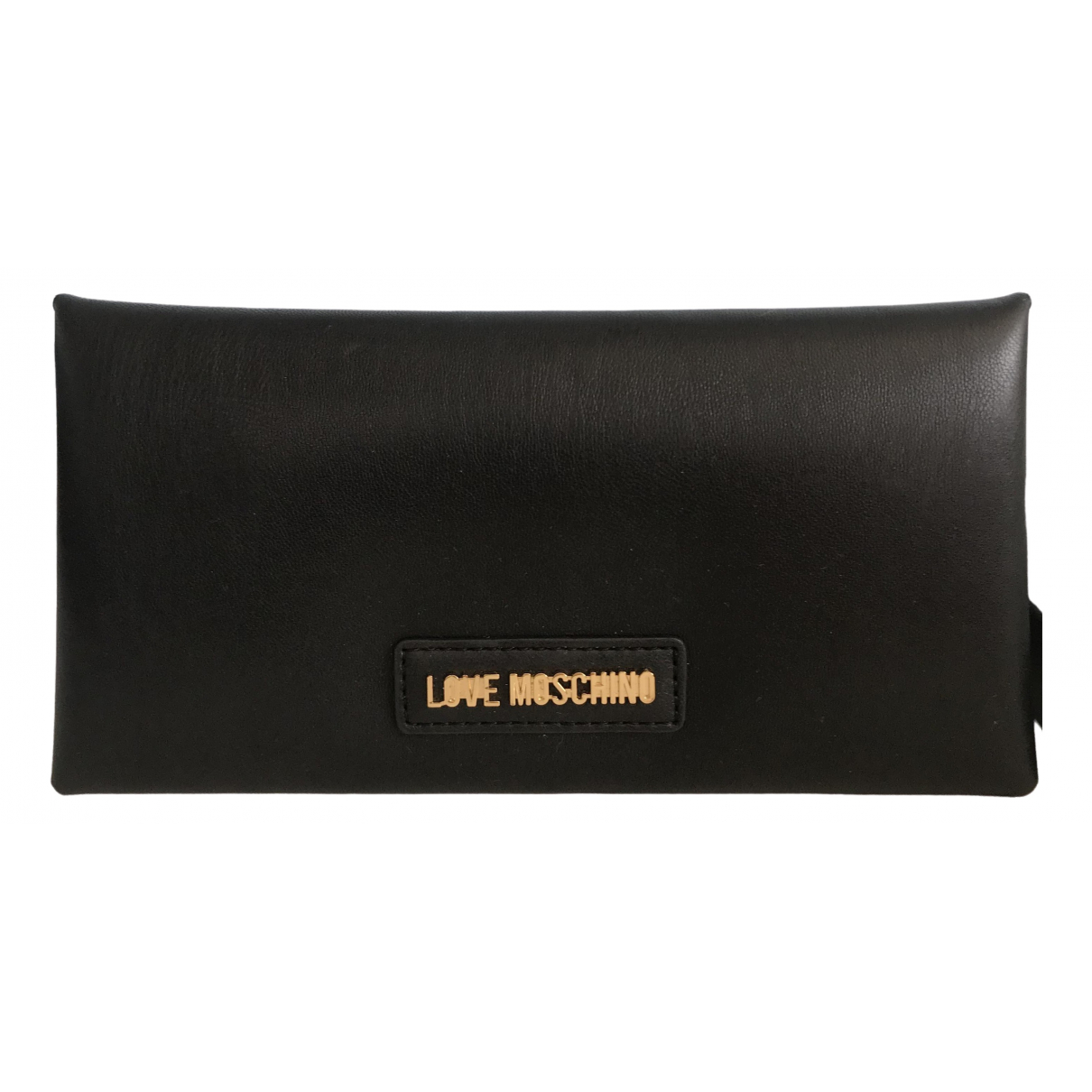 Moschino Love \N Black Leather wallet for Women \N